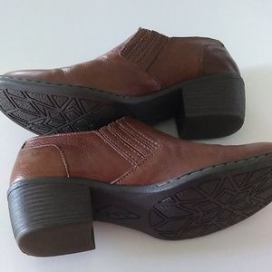 B.O.C. Brown Leather Booties